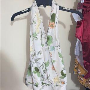Halter Neck floral shirt
